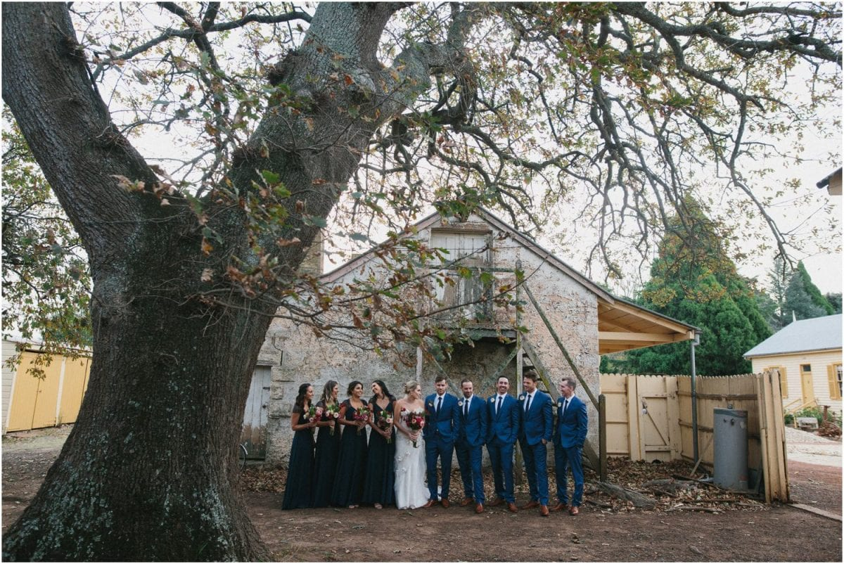 A bridal party at a Hillview Heritage Hotel wedding