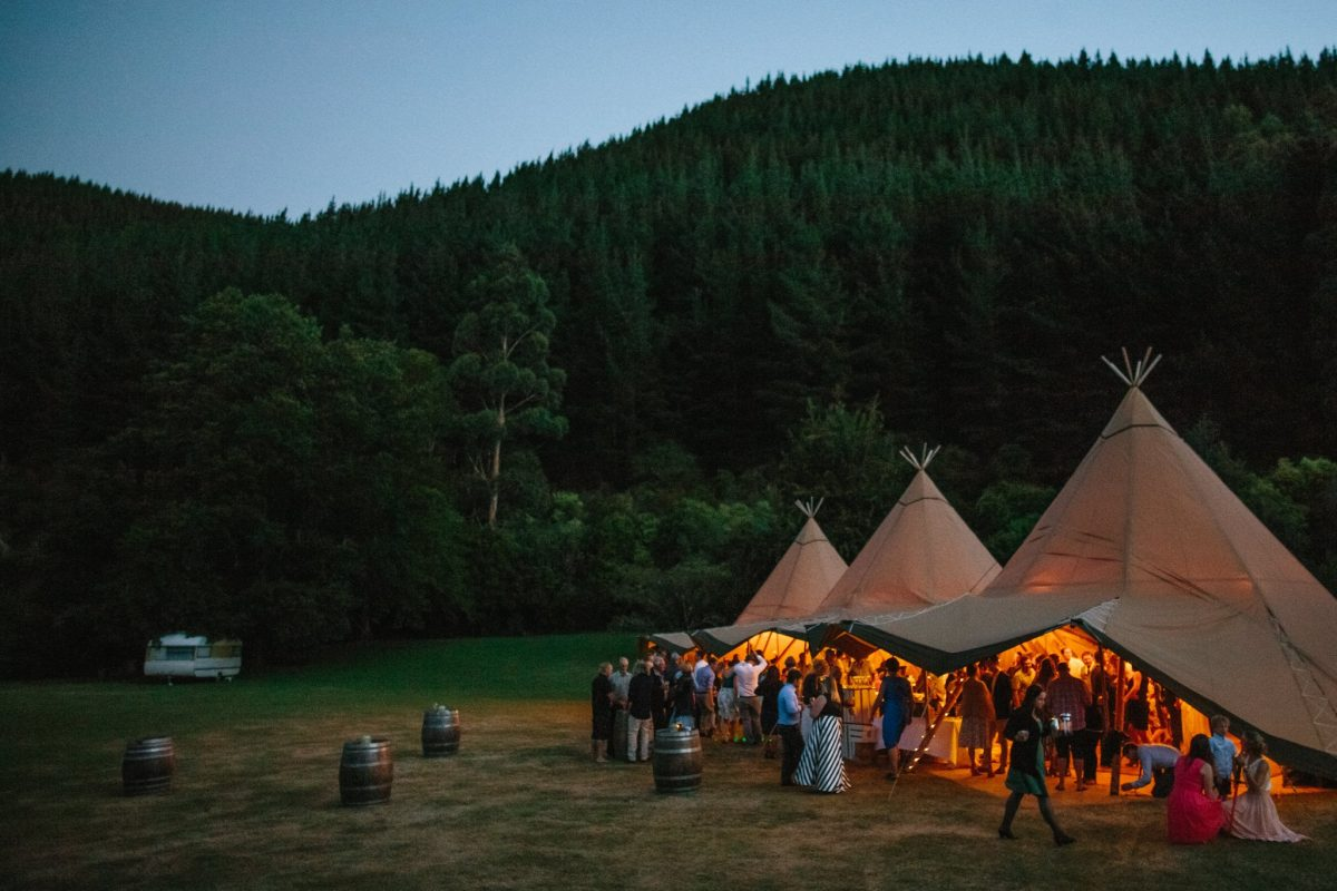 wedding tipi, wedding reception