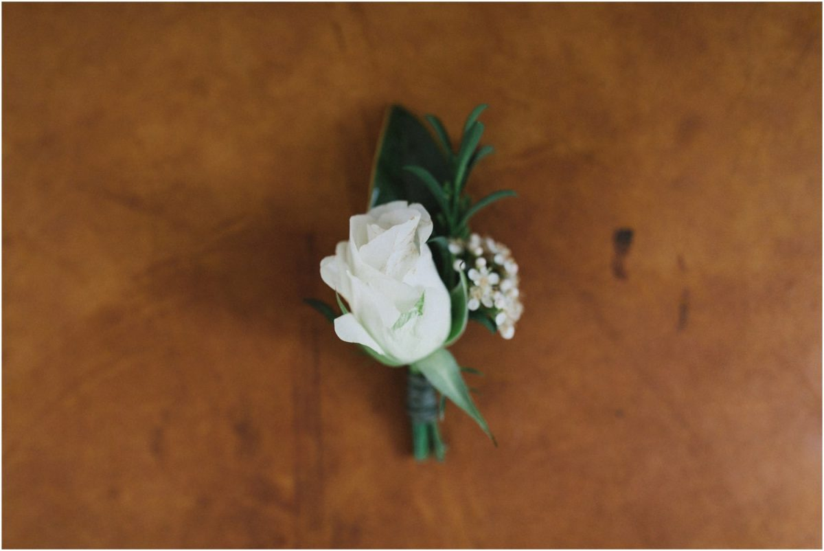 Boutonniere at a Bendooley Berrima weding