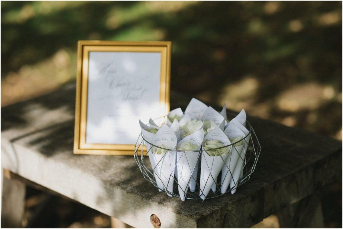 Rose petals to throw at a Bendooley Berrima wedding