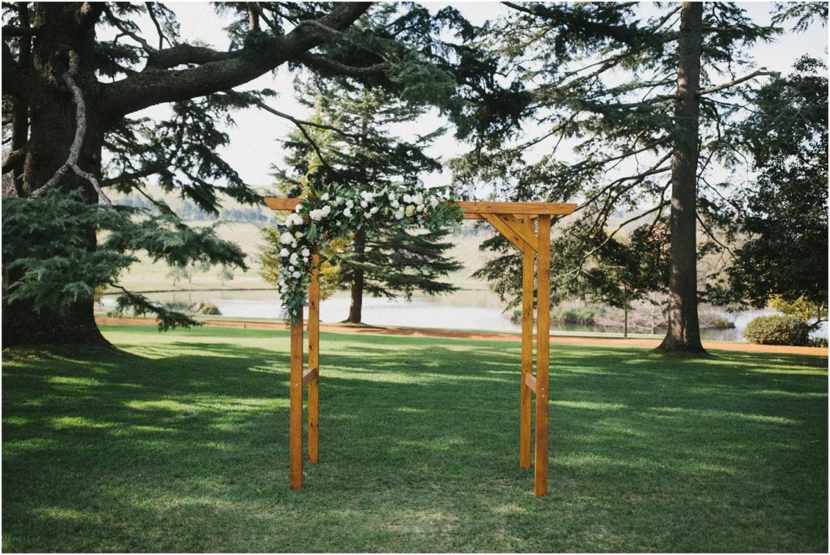 Arbor at a Bendooley Berrima wedding