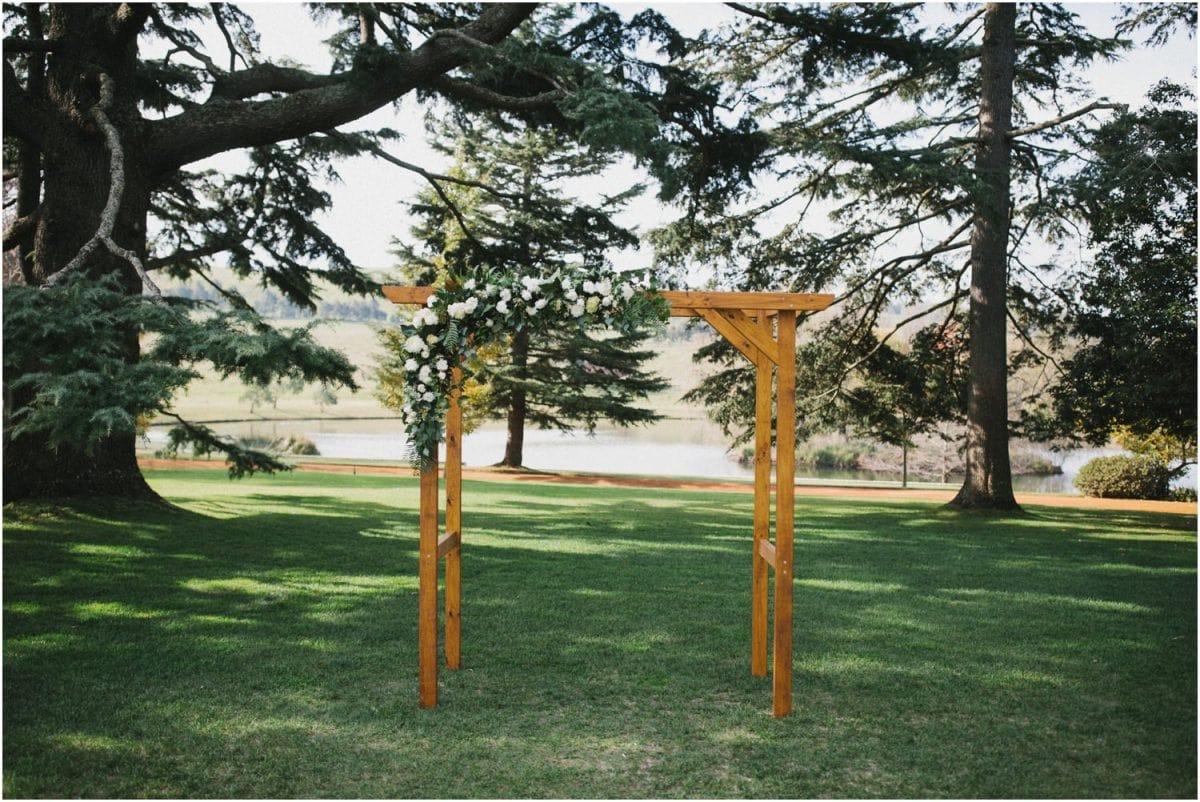 Arbor at a Bendooley Berrima wedding