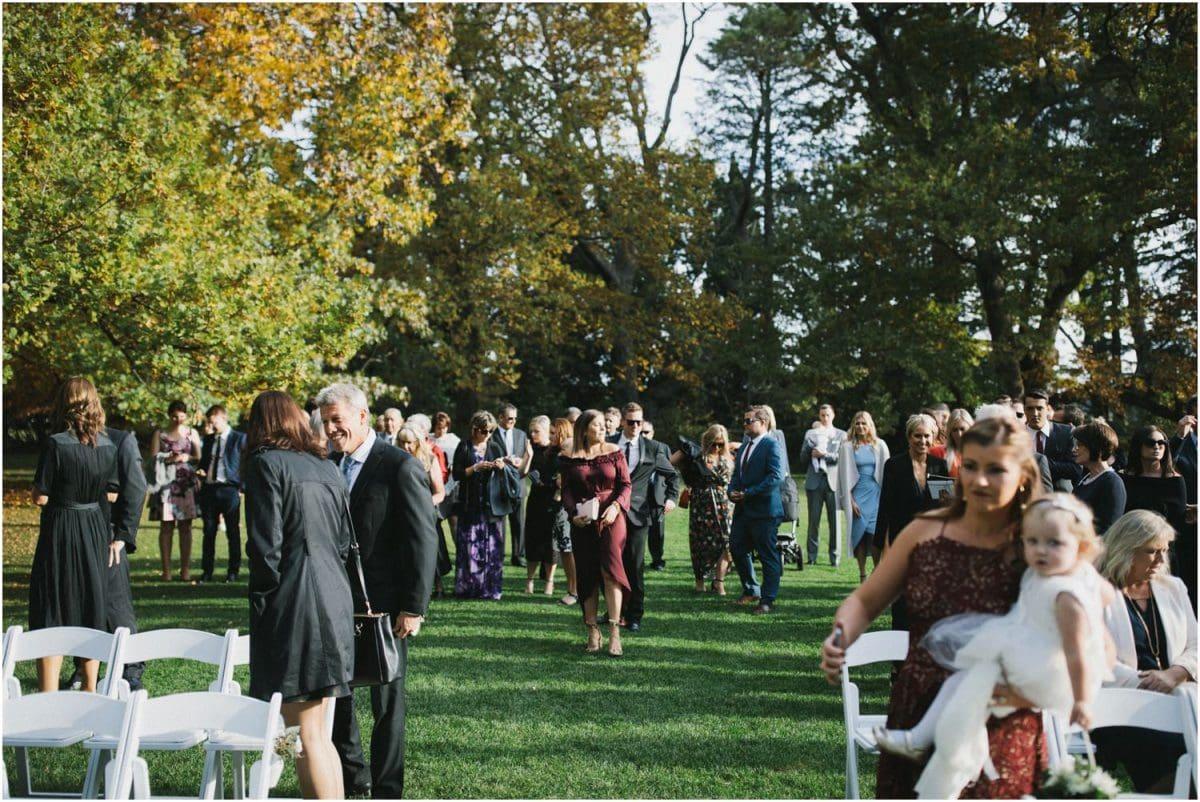 Ceremony at Bendooley Berrima wedding