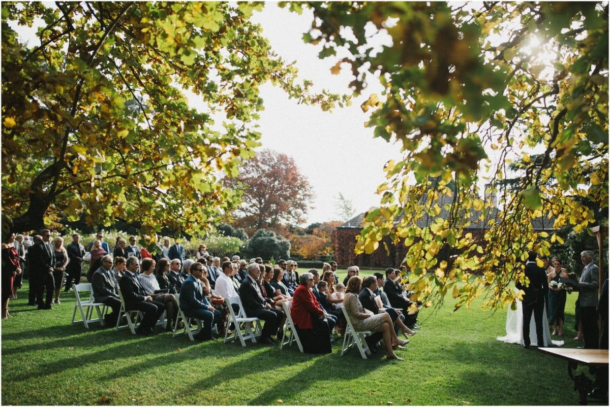 Wedding ceremony at Bendooley Estate Berrima