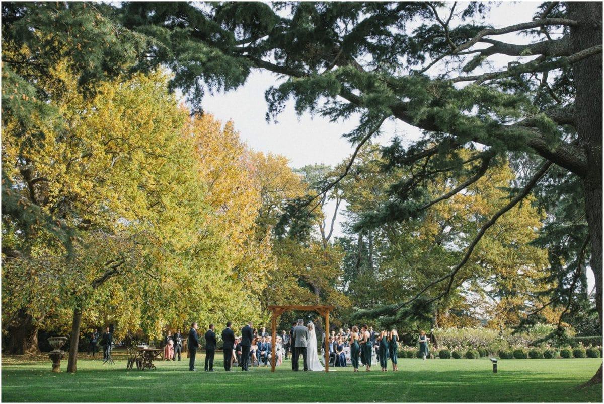 Wedding ceremony at Bendooley Estate in Berrima