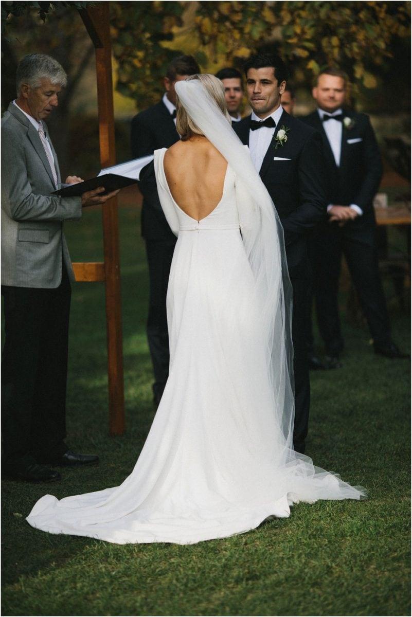 Bride and groom at their Bendooley Berrima wedding