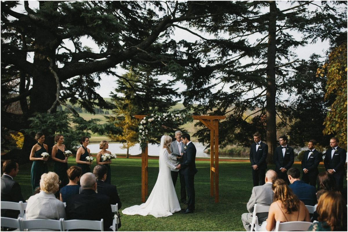 Front of the ceremony at a Bendooley Estate Wedding