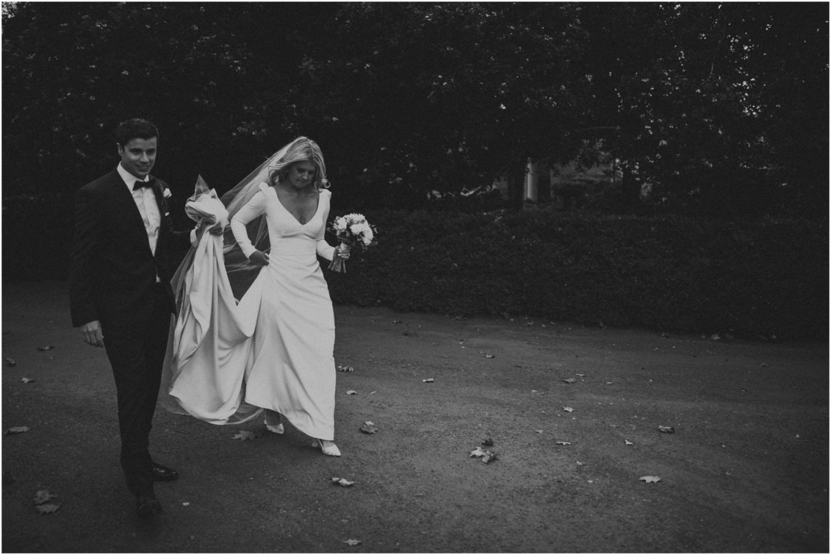 Bride and groom at Bendooley Estate