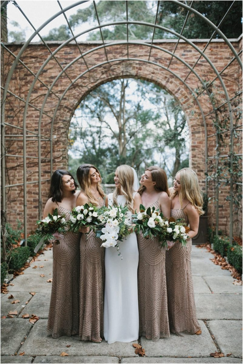 Bridesmaids at Milton Park in Bowral