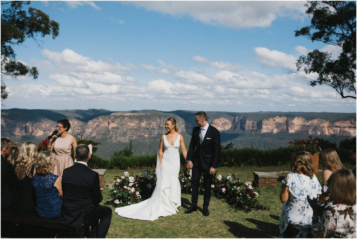 The ceremony location of this Allview Escape Blue Mountains Wedding