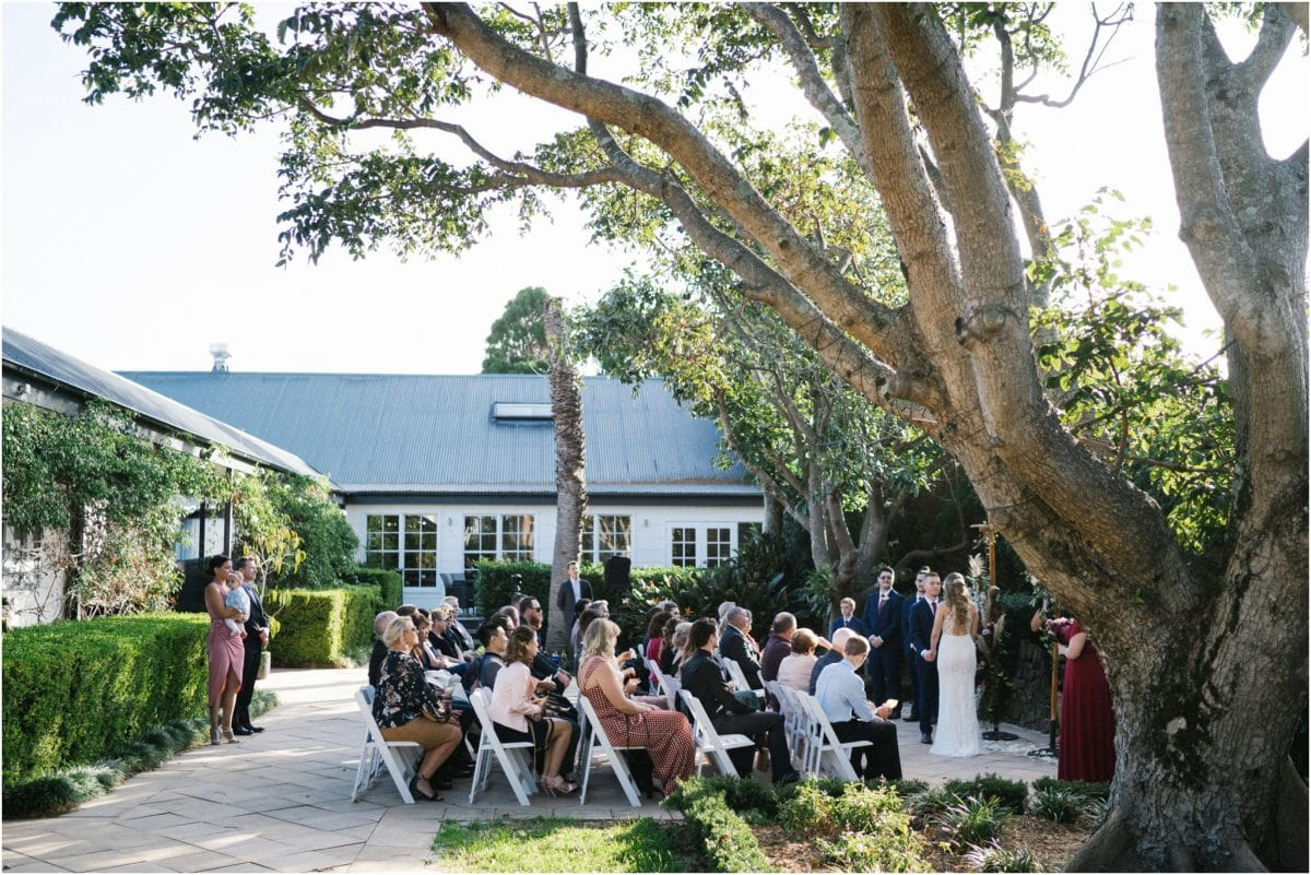 A shot of the ceremony at a lovely Mercure Gerringong wedding