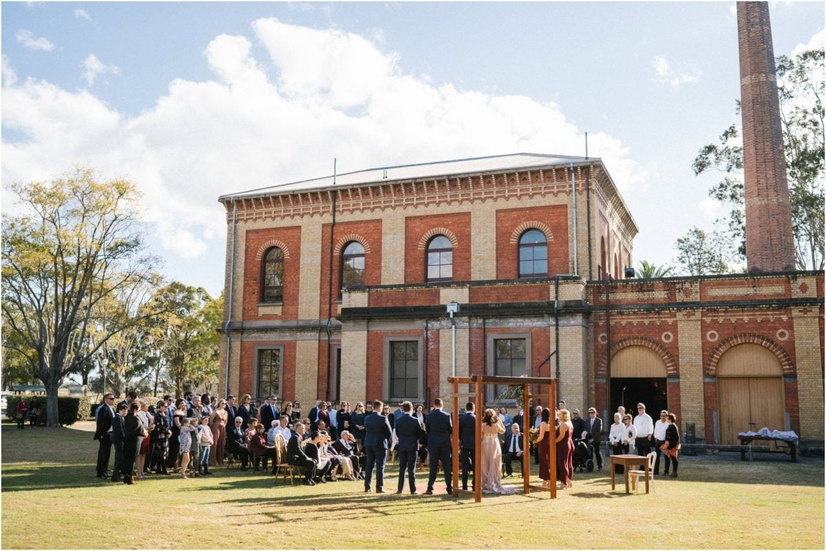 A view of a beautiful Walka Water Works wedding