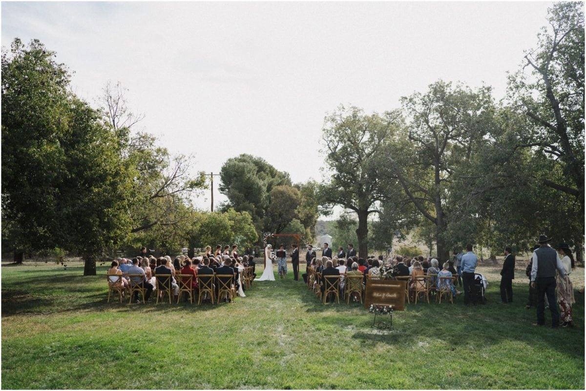 The ceremony at a beautiful Canowindra wedding