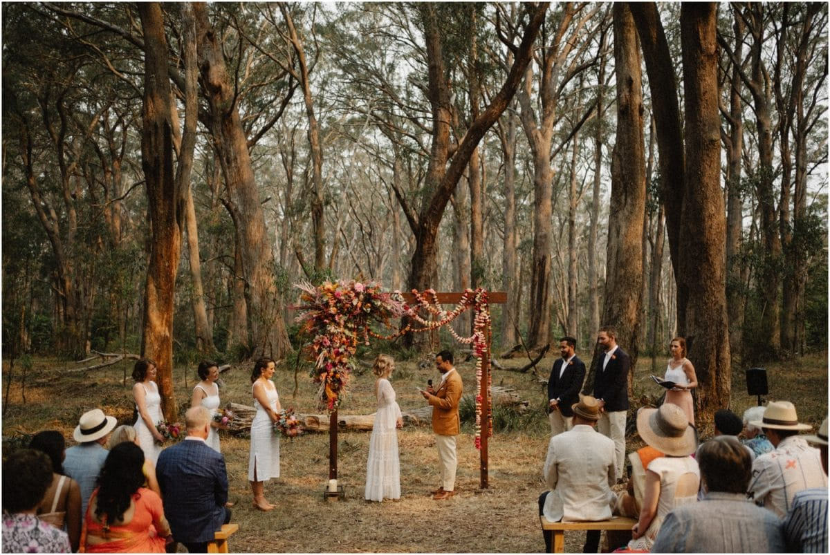 A Bowral wedding ceremony on Mount Gibraltar