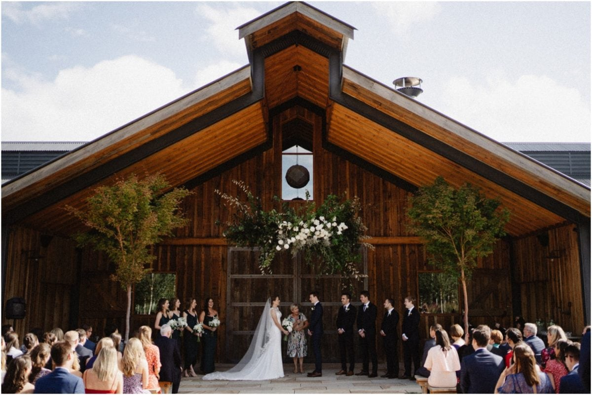 A beautiful Stables Bendooley Estate wedding ceremony